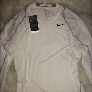 Nike Men's White Dri Fit Long Sleeve Shirt sz XXL